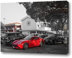 Картина Красное авто
