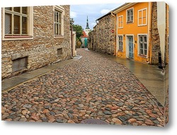 Картина старой улице Таллина