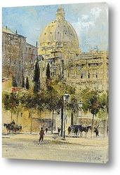 Картина Рим, площадь Ангелики