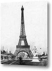 Картина Эйфелева башня на Всемирной выставке,1890-е.
