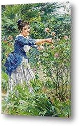 Картина Обрезание роз