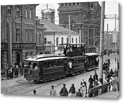 Картина С балкона Большой проломной аптеки, в 1910 году.