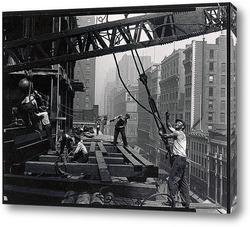 Картина Мужчины с вышки, Эмпайр Стейт Билдинг