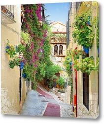 Картина Цветущая улица Испании