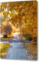 Картина Осенняя аллея в парке