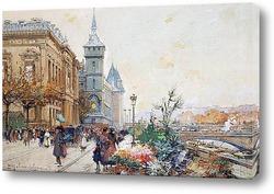 Цветочный рынок на Сене