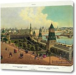 Картина Воспитательный дом виден с Кремля 1845  –  1850