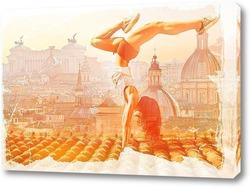 Картина Гимнастка на крыше