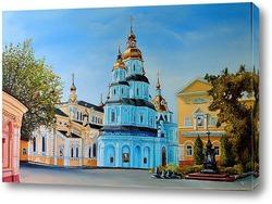 Картина Вид на Свято-Покровский мужской монастырь
