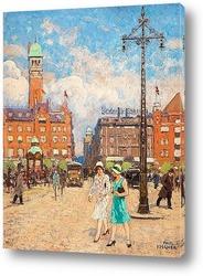 Картина Ратушная площадь, Копенгаген