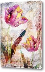 Картина Яркие тюльпаны