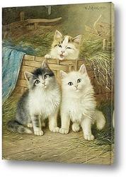Кошка и воробьи