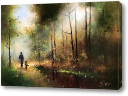 Картина Дорога в осень