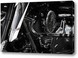 Картина Harley-Davidson в деталях.
