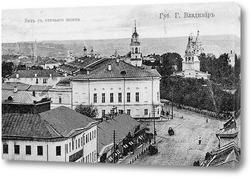 Картина Вид с Пятницкой церкви 1890  –  1900 ,  Россия,  Владимирская область,  Владимир
