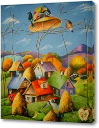 Картина Пролетая рад гнеэдом кукушки