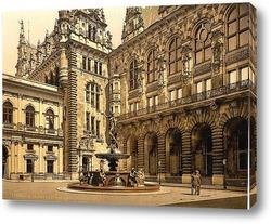 Картина Гамбург, Германия.1890-1900 гг