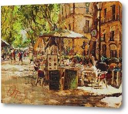 Картина Уличное кафе в Барселоне