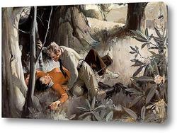 Картина Любовь в лесу