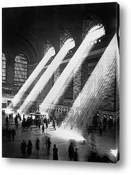 Картина Солнечные лучи в Главном центральном вокзале Нью-Йорка.