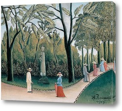 Люксембургский сад.Памятник Шопену