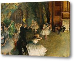 Репетиция балета на сцене (ок.1874)