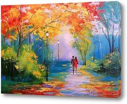 Картина Осенняя прогулка в парке