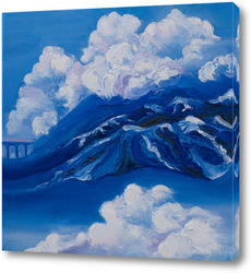 Картина Горы в облаках
