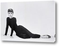 Картина Одри Хепберн позирующая для рекламы фильма<Сабрина>.
