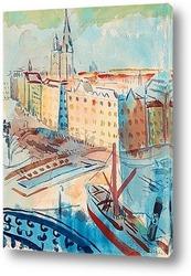 Картина Вид на Стокгольм