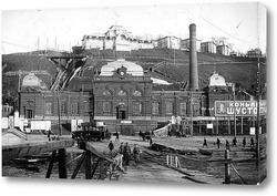 Картина Электростанция и Похвалинский элеватор Н.Новгород 1912  –  1915