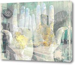 Картина Артпостер. Карта мира