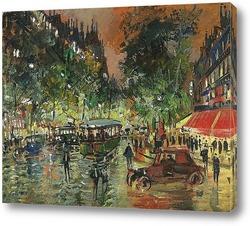 Картина Бульвар,ночной Париж