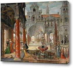 Дворцовая архитектура с дворянами