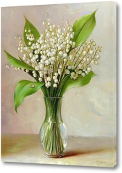 Картина Ландыши в вазочке