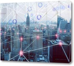 Картина Большой мегаполис
