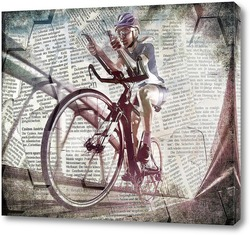 Картина Соревнование по велоспорту