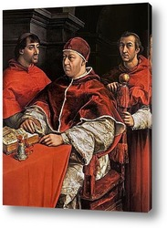 Картина Портрет папы Льва X с кардиналами Джулио де Медичи и Луиджи де Р