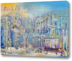 Мастерская с видом на утренний городок