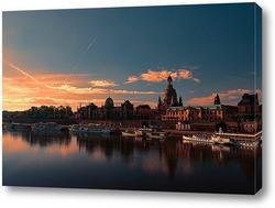 Картина Закат в Дрездене