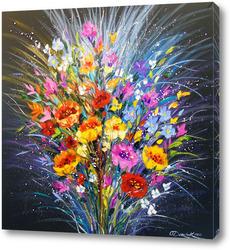 Картина Букет цветов на счастье