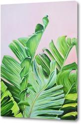 Картина Тропические листья маслом