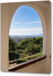 Картина Сады и арки Альгамбры