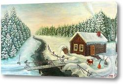 Картина Кар супротив Гав (зимняя быль)