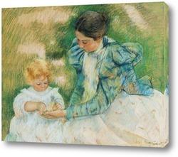 Мама играющая со своим ребенком, 1897