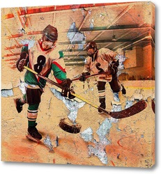 Картина Хоккеисты в игре