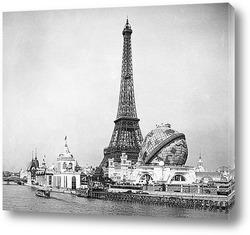 Ночной Париж и Эйфелева башня