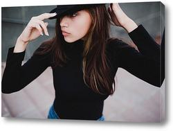 Картина Девушка в черном