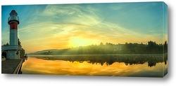 Картина Рассвет на Москве реке