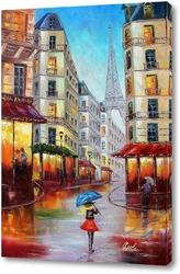 Картина Картина маслом. Париж. Холст 50х70